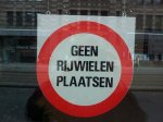 Geen rijwielen plaatsen - No placing for bicycles